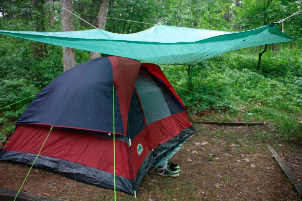 установить палатку